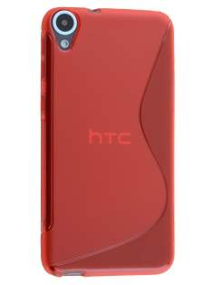 Wave Case for HTC Desire 820 - Frosted Red/Red Soft Cover