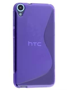 Wave Case for HTC Desire 820 - Frosted Purple/Purple Soft Cover