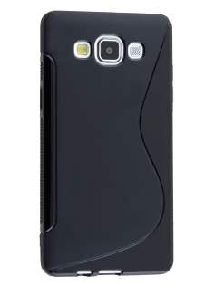 Samsung Galaxy A5 (2014) Wave Case - Frosted Black/Black