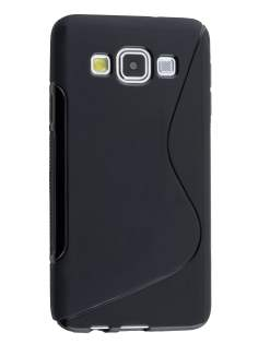 Wave Case for Samsung Galaxy A3 A300F - Frosted Black/Black Soft Cover