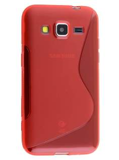 Wave Case for Samsung Core Prime - Frosted Red/Red Soft Cover