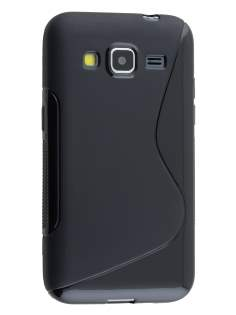 Wave Case for Samsung Core Prime - Frosted Black/Black Soft Cover
