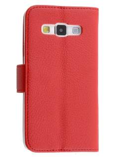 Synthetic Leather Wallet Case with Stand for Samsung Galaxy A3 A300F - Red Leather Wallet Case