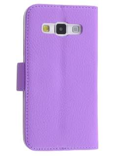 Synthetic Leather Wallet Case with Stand for Samsung Galaxy A3 A300F - Light Purple Leather Wallet Case