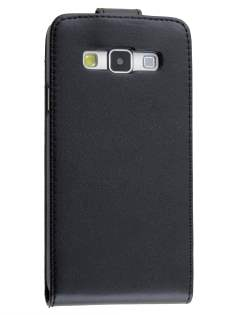 Synthetic Leather Flip Case for Samsung Galaxy A3 A300F - Classic Black Leather Flip Case