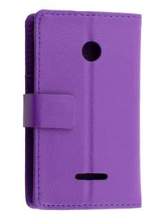 Slim Synthetic Leather Wallet Case with Stand for Nokia Lumia 435/532 - Purple Leather Wallet Case
