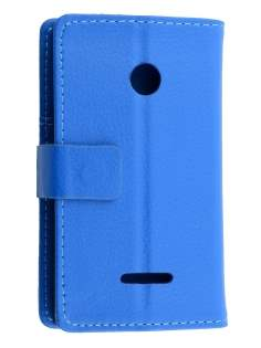 Nokia Lumia 435/532 Slim Synthetic Leather Wallet Case with Stand - Blue