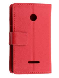 Slim Synthetic Leather Wallet Case with Stand for Nokia Lumia 435/532 - Red Leather Wallet Case