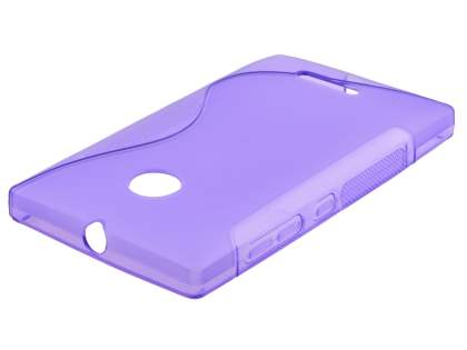 Wave Case for Nokia Lumia 435/532 - Frosted Purple/Purple Soft Cover