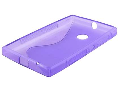 Nokia Lumia 435/532 Wave Case - Frosted Purple/Purple