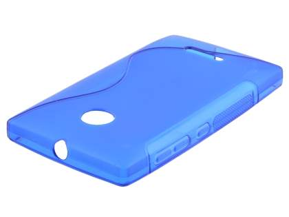 Wave Case for Nokia Lumia 435/532 - Frosted Blue/Blue Soft Cover