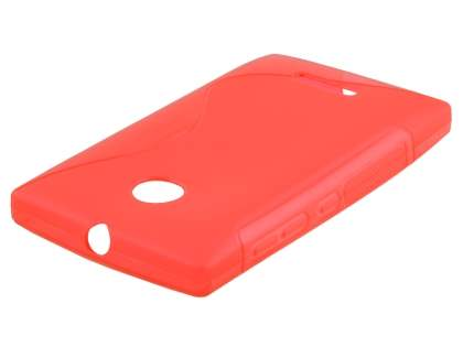 Nokia Lumia 435/532 Wave Case - Frosted Red/Red
