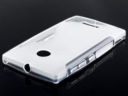 Nokia Lumia 435/532 Wave Case - Frosted Clear/Clear