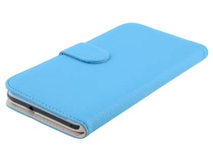 Synthetic Leather Wallet Case with Stand for HTC Desire 820 - Sky Blue
