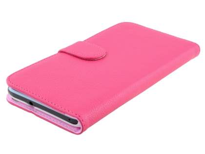 HTC Desire 820 Synthetic Leather Wallet Case with Stand - Pink