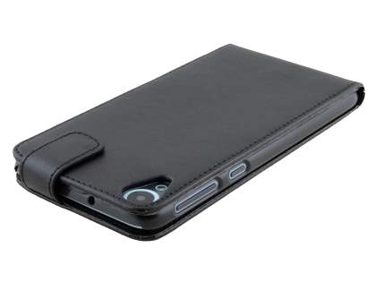 HTC Desire 820 Synthetic Leather Flip Case - Classic Black