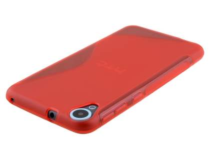 HTC Desire 820 Wave Case - Frosted Red/Red