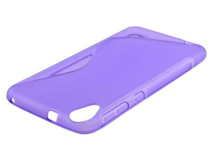 HTC Desire 820 Wave Case - Frosted Purple/Purple