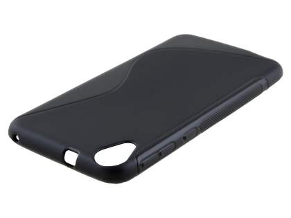 HTC Desire 820 Wave Case - Frosted Black/Black