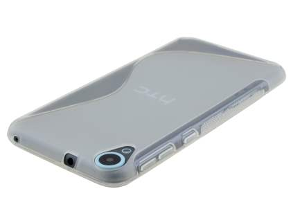 HTC Desire 820 Wave Case - Frosted Clear/Clear