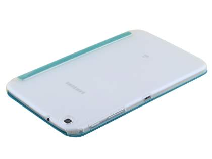 Samsung Galaxy Tab 3 8.0 Book-Style Case with Stand - Teal/Frosted Clear