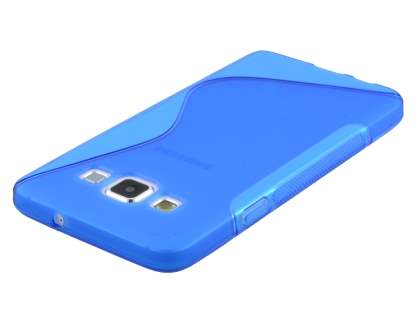 Samsung Galaxy A3 A300F Wave Case - Frosted Blue/Blue