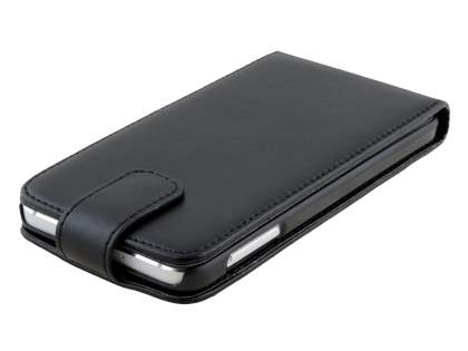 Synthetic Leather Flip Case for Samsung Galaxy A3 A300F - Classic Black