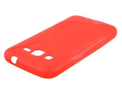 Samsung Core Prime Wave Case - Frosted Red/Red
