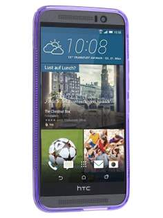 HTC One M9 Wave Case - Frosted Purple/Purple