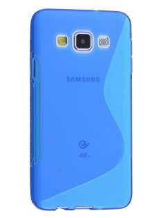Wave Case for Samsung Galaxy A5 (2014) - Frosted Blue/Blue Soft Cover