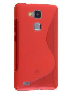 Wave Case for Huawei Ascend Mate7 - Frosted Red/Red Soft Cover
