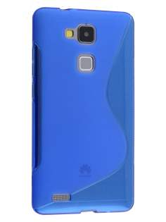Wave Case for Huawei Ascend Mate7 - Frosted Blue/Blue Soft Cover