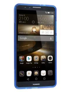 Huawei Ascend Mate7 Wave Case - Frosted Blue/Blue