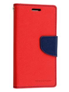 Mercury Colour Fancy Diary Case with Stand for Samsung Galaxy S5 mini - Red/Navy