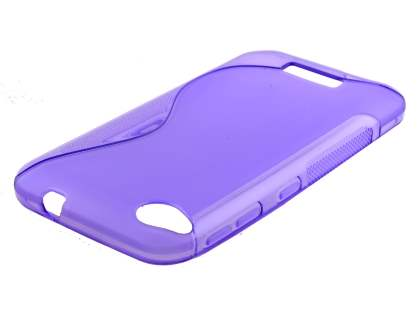 Wave Case for HTC Desire 320 - Frosted Purple/Purple Soft Cover