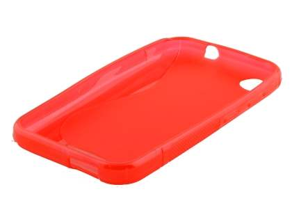 Wave Case for HTC Desire 320 - Frosted Red/Red