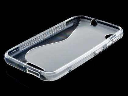 HTC Desire 320 Wave Case - Frosted Clear/Clear
