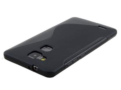 Huawei Ascend Mate7 Wave Case - Frosted Black/Black