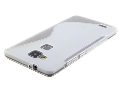 Huawei Ascend Mate7 Wave Case - Frosted Clear/Clear