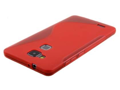Huawei Ascend Mate7 Wave Case - Frosted Red/Red