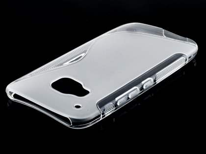 Wave Case for HTC One M9 - Frosted Clear/Clear