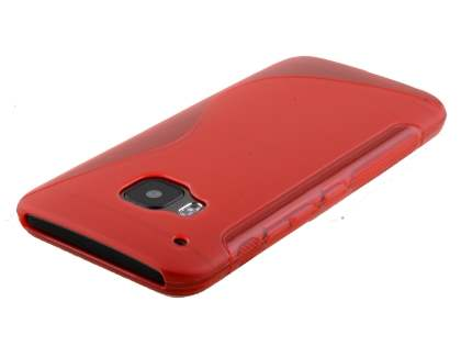HTC One M9 Wave Case - Frosted Red/Red