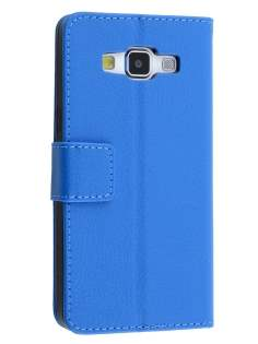 Slim Synthetic Leather Wallet Case with Stand for Samsung Galaxy A5 (2014) - Blue Leather Wallet Case