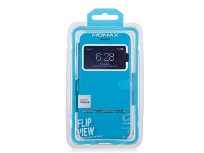 Momax Flip View Case for iPhone 6s/6 4.7 inches - Sky Blue