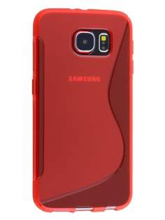 Samsung Galaxy S6 Wave Case - Frosted Red/Red
