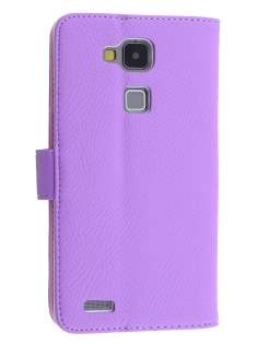 Synthetic Leather Wallet Case with Stand for Huawei Ascend Mate7 - Light Purple Leather Wallet Case