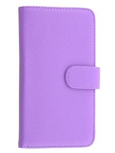 Synthetic Leather Wallet Case with Stand for Huawei Ascend Mate7 - Light Purple