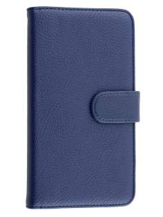 Huawei Ascend Mate7 Synthetic Leather Wallet Case with Stand - Dark Blue
