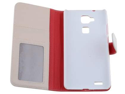 Synthetic Leather Wallet Case with Stand for Huawei Ascend Mate7 - Pearl White