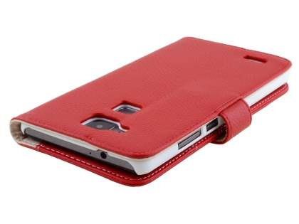 Huawei Ascend Mate7 Synthetic Leather Wallet Case with Stand - Red